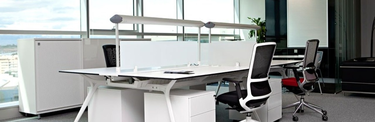 Stylish And Functional Office Furniture Configuration